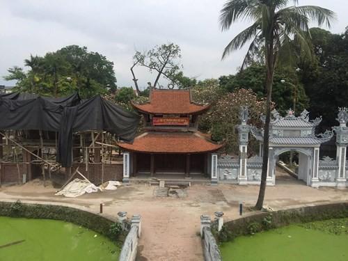 Bộ trưởng Nguyễn Ngọc Thiện yêu cầu kiểm tra việc xây dựng tại Di tích quốc gia chùa Bối Khê - Ảnh 1.