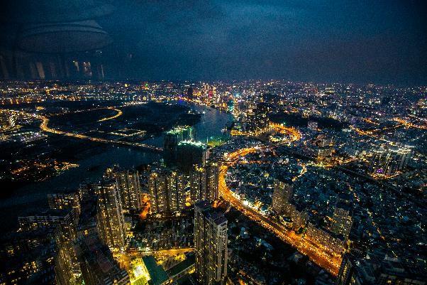 """Hé lộ hình ảnh """"độc nhất vô nhị"""" đầu tiên từ đài quan sát cao nhất Đông Nam Á giữa Sài Gòn - Ảnh 4."""