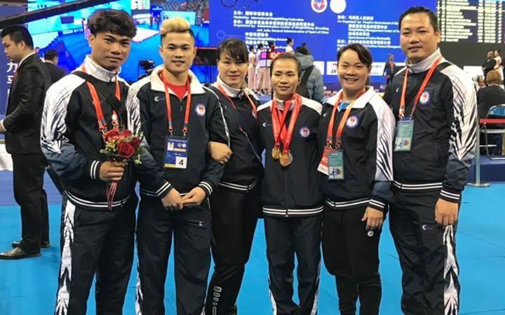 Cử tạ Việt Nam giành 3 HCV tại Giải vô địch cử tạ châu Á