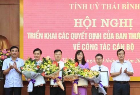 Nhân sự mới vừa được điều động, bổ nhiệm ở Thái Bình, Vĩnh Phúc và Bắc Ninh - Ảnh 1.