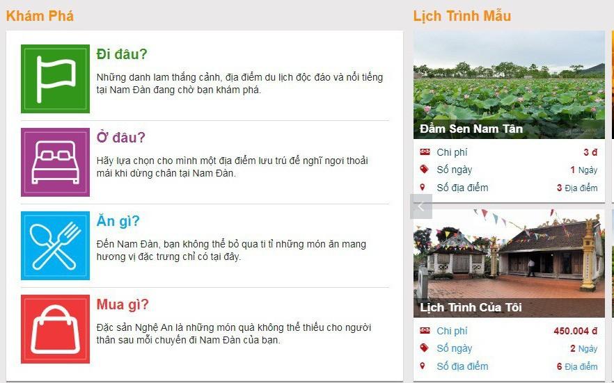 Chính thức khai trương Cổng thông tin du lịch thông minh huyện Nam Đàn, tỉnh Nghệ An