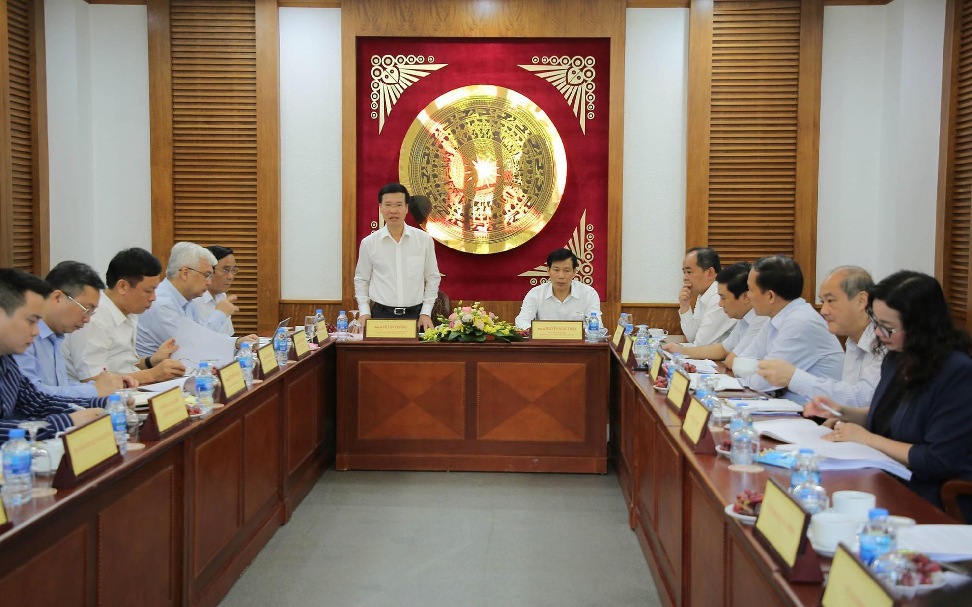 Tiểu ban Văn kiện Đại hội XIII của Đảng làm việc tại Bộ VHTTDL