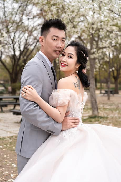 Ốc Thanh Vân khoe ảnh cưới chụp tại Hàn Quốc, vô tình để lộ hình xăm gợi cảm - Ảnh 4.