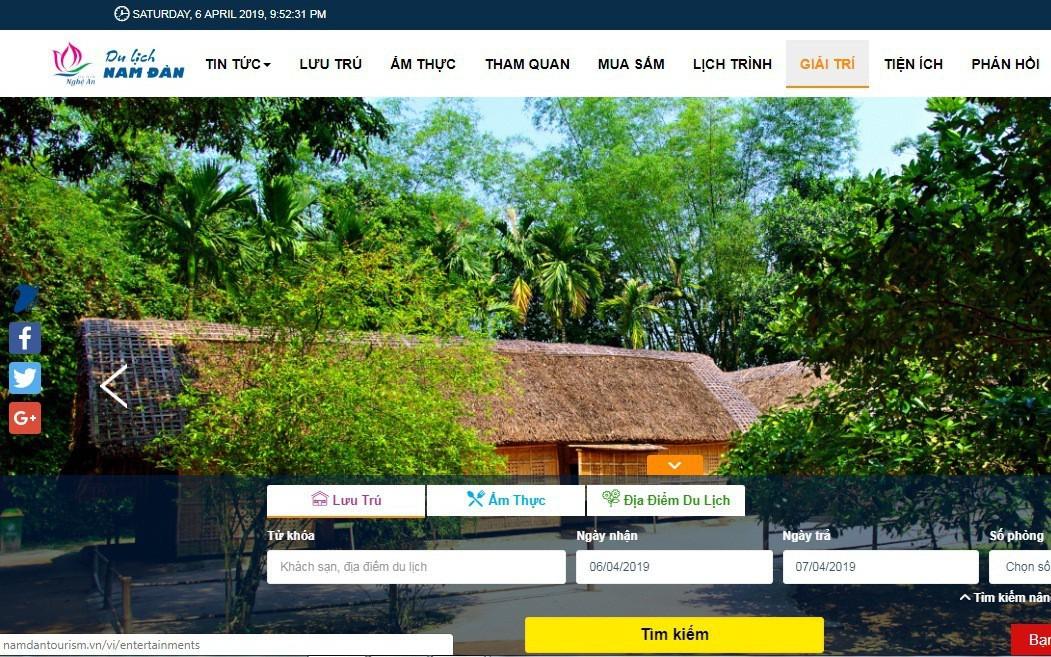 Nghệ An: Triển khai hệ thống Cổng thông tin du lịch thông minh