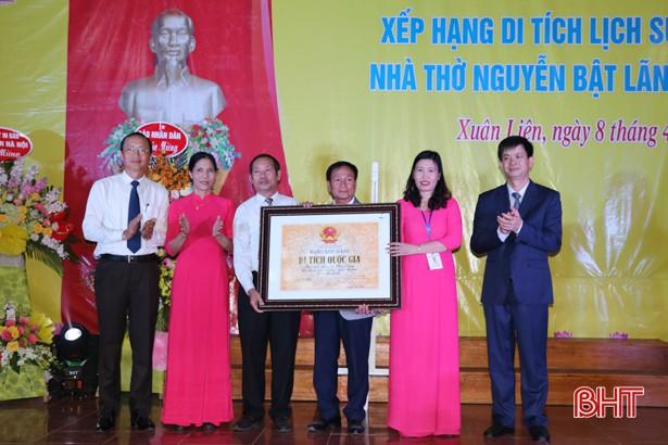 Hà Tĩnh: Đón bằng xếp hạng di tích quốc gia Nhà thờ Tiến sỹ Nguyễn Bật Lãng - Ảnh 1.