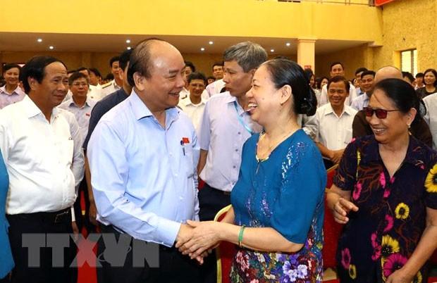 Hình ảnh Thủ tướng Nguyễn Xuân Phúc tiếp xúc cử tri TP. Hải Phòng - Ảnh 3.