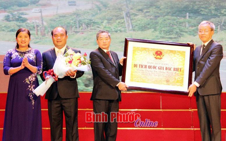 Công bố di tích quốc gia đặc biệt Đường Trường Sơn - Đường Hồ Chí Minh tại Bình Phước