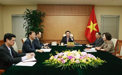 Phó Thủ tướng Vương Đình Huệ điện đàm với Bộ trưởng Tài chính Hoa Kỳ: Tăng cường hợp tác tài chính-tiền tệ, kinh tế-thương mại và đầu tư - Ảnh 1.