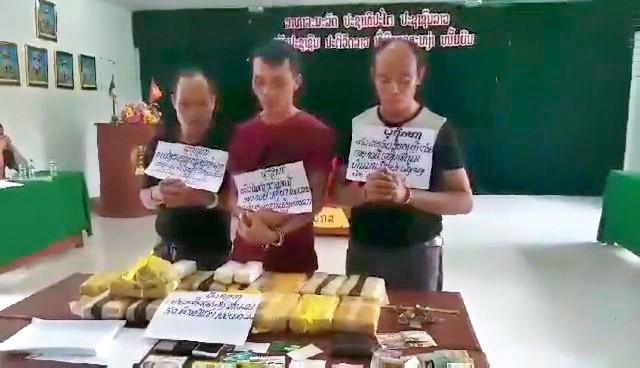 Bắt 3 đối tượng, chặn đứng 100.000 viên ma túy chuẩn bị tuồn vào Việt Nam - Ảnh 1.