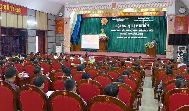Hội nghị tập huấn công tác xây dựng, thực hiện hương ước, quy ước năm 2019 tại Hà Giang - Ảnh 1.