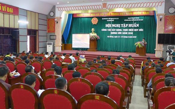 Hội nghị tập huấn công tác xây dựng, thực hiện hương ước, quy ước năm 2019 tại Hà Giang