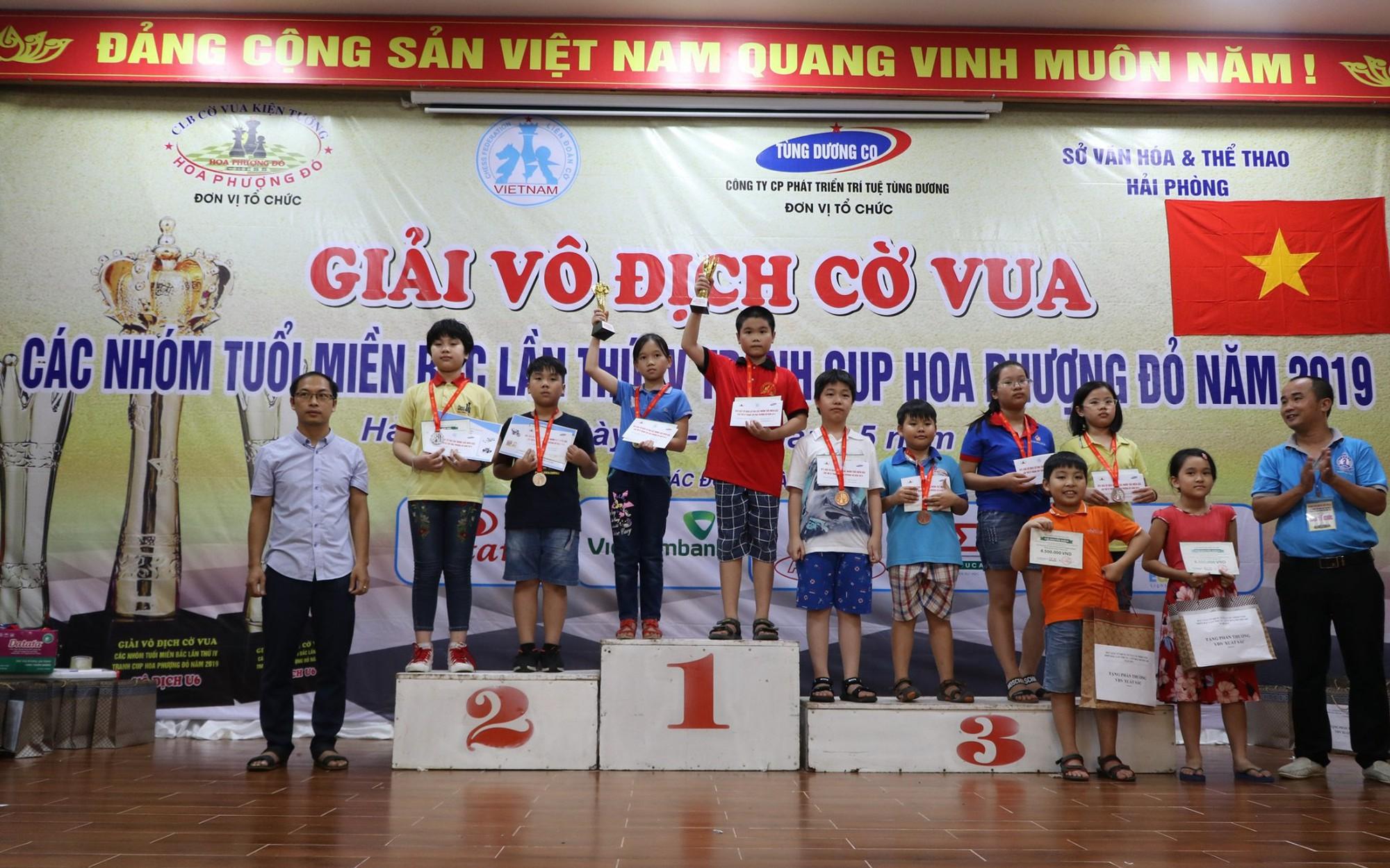 Bế mạc Giải vô địch cờ vua các nhóm tuổi miền Bắc lần thứ IV tranh Cúp Hoa Phượng Đỏ 2019