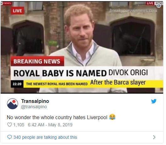 Bất ngờ em bé Hoàng gia và Cristiano Ronaldo bị réo tên sau cú lội ngược dòng lịch sử của Liverpool - Ảnh 6.
