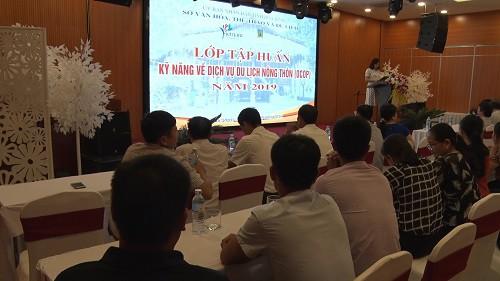 Hòa Bình tập huấn kỹ năng về dịch vụ du lịch nông thôn (OCOP) năm 2019 - Ảnh 1.
