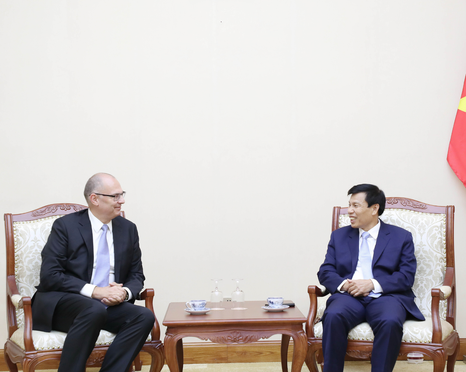 Bộ trưởng Nguyễn Ngọc Thiện tiếp Đại sứ Đan Mạch tại Việt Nam