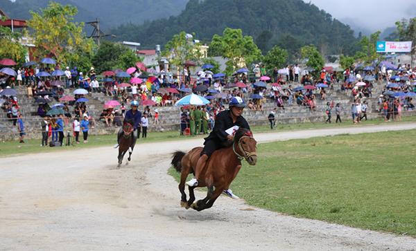 Sôi động, hấp dẫn vòng loại Giải Đua Vó ngựa cao nguyên trắng Bắc Hà 2019 - Ảnh 1.