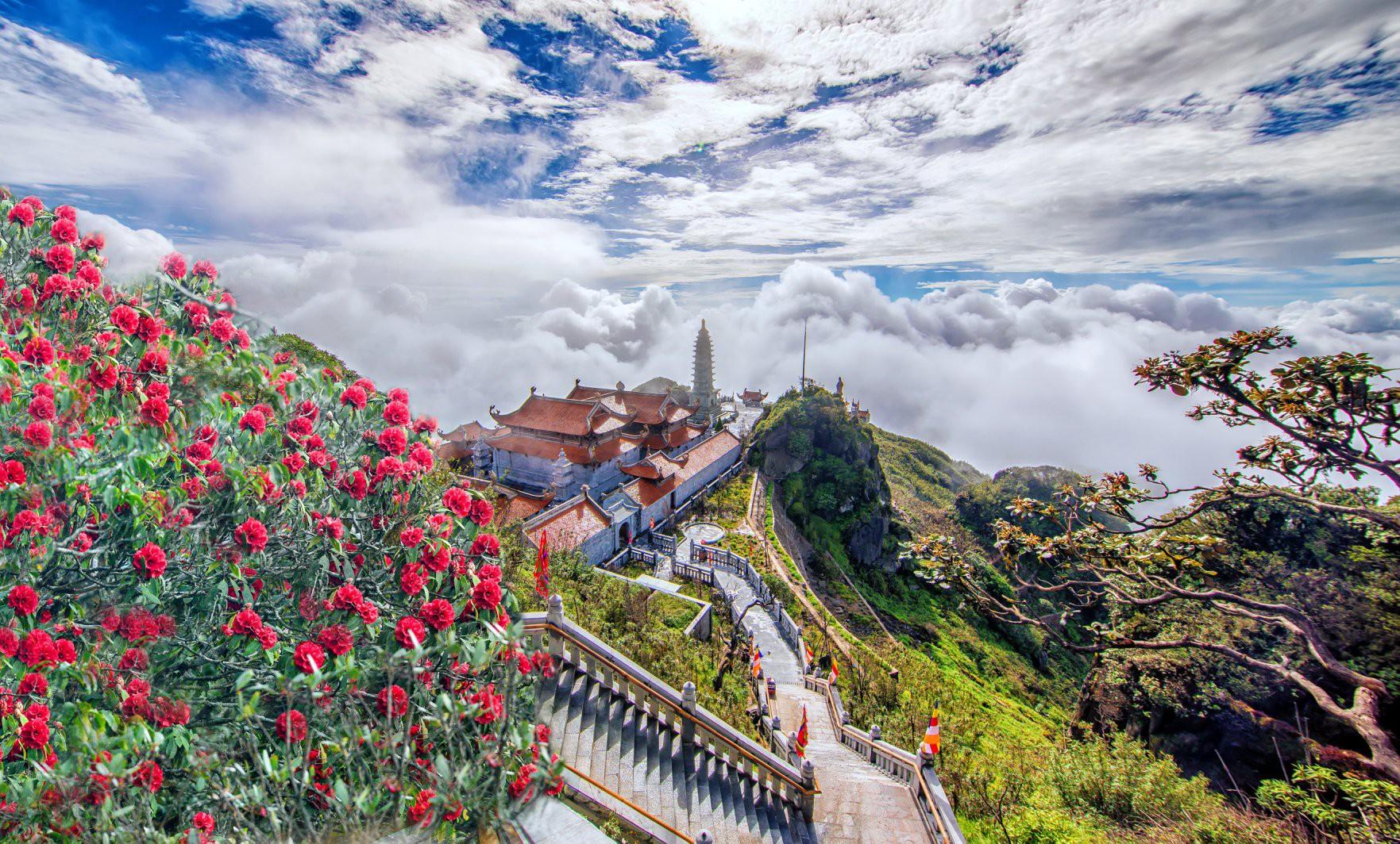 """""""Thêu hoa"""" lên đỉnh trời Hoàng Liên Sơn - Ảnh 1."""