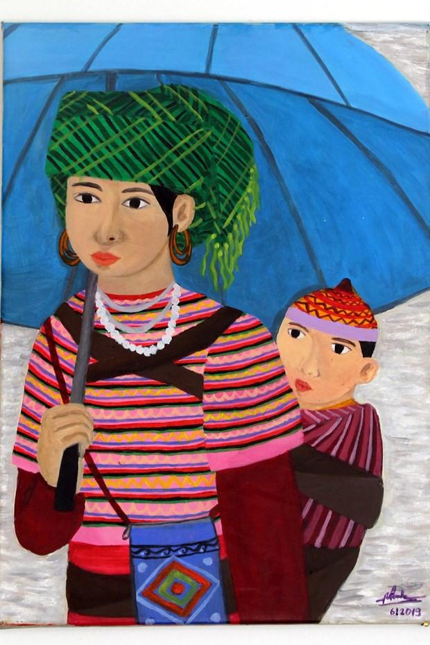 Tác phẩm của họa sỹ khiếm thính Việt Nam được trưng bày tại Italy