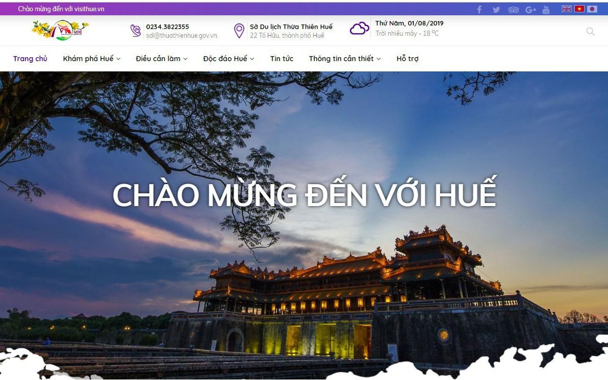 Chính thức ra mắt Cổng thông tin điện tử Sở du lịch Thừa Thiên Huế