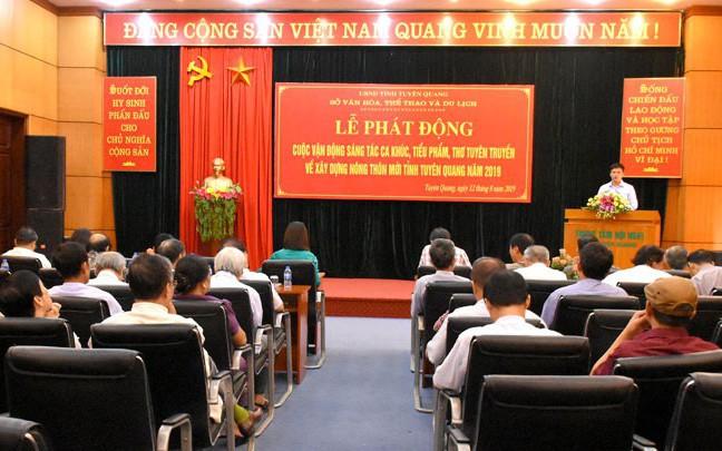 Tuyên Quang phát động sáng tác ca khúc, tiểu phẩm, thơ tuyên truyền về xây dựng nông thôn mới