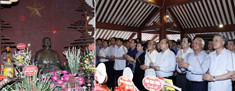 Thủ tướng và Chủ tịch Quốc hội dâng hương tưởng niệm Chủ tịch Hồ Chí Minh - Ảnh 1.