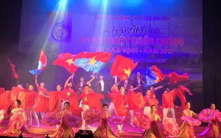 Nam Định phát triển mạnh phong trào văn nghệ quần chúng