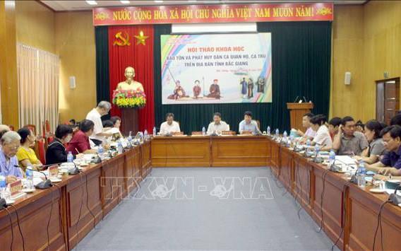 Bảo tồn và phát huy dân ca quan họ, ca trù trên địa bàn tỉnh Bắc Giang