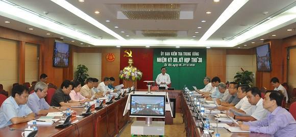 Thông cáo báo chí kỳ họp 38 của Ủy ban Kiểm tra Trung ương - Ảnh 1.