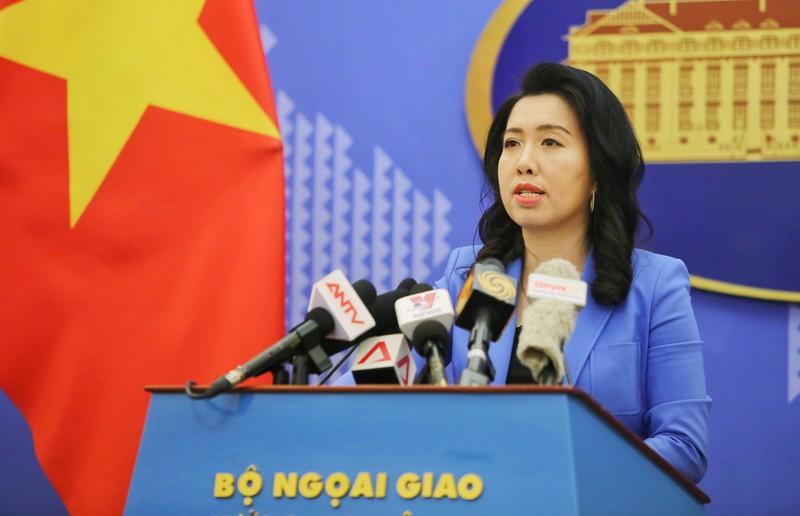Yêu cầu Trung Quốc rút toàn bộ nhóm tàu Hải Duong 08 khỏi vùng biển Việt Nam - Ảnh 1.