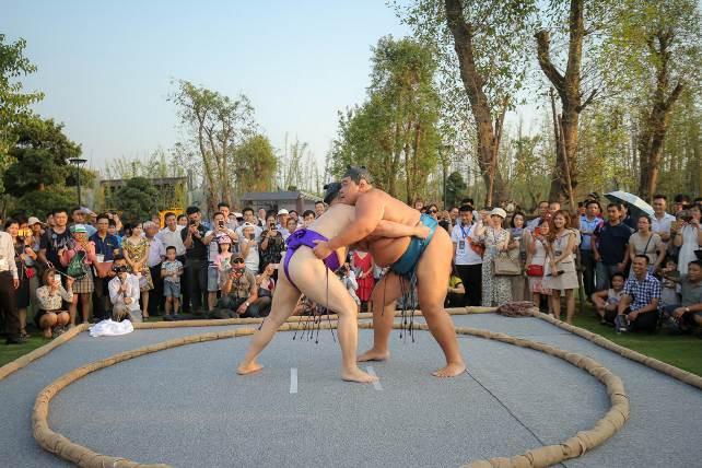 Hai đại võ sĩ sumo nổi tiếng Nhật Bản bất ngờ xuất hiện tại Việt Nam - Ảnh 4.