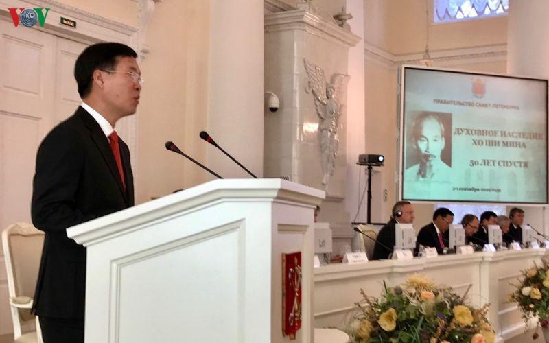 Thống đốc Saint Peterburg: Di sản tinh thần Hồ Chí Minh là vô giá - Ảnh 1.
