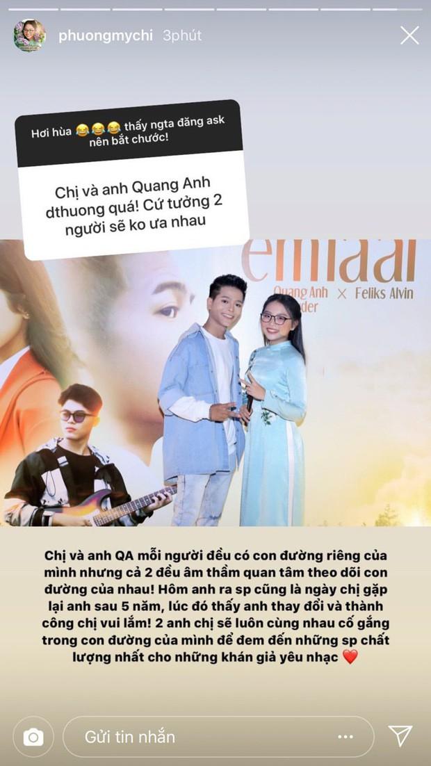 Bị hỏi thẳng tin đồn không ưa Quang Anh hậu The Voice Kids, Phương Mỹ Chi cuối cùng đã lên tiếng - Ảnh 1.