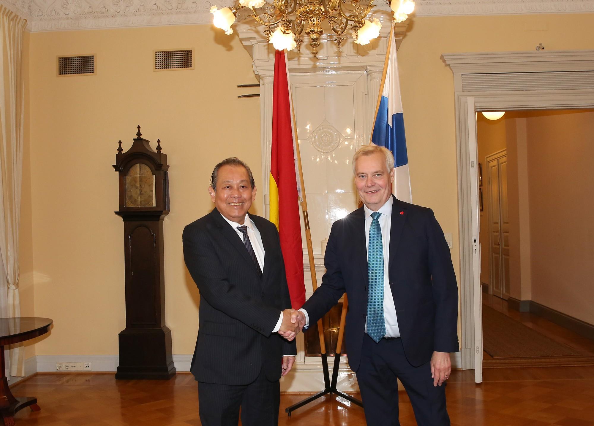 Phó Thủ tướng Trương Hòa Bình hội kiến Thủ tướng Phần Lan Antii Rinne - Ảnh 1.
