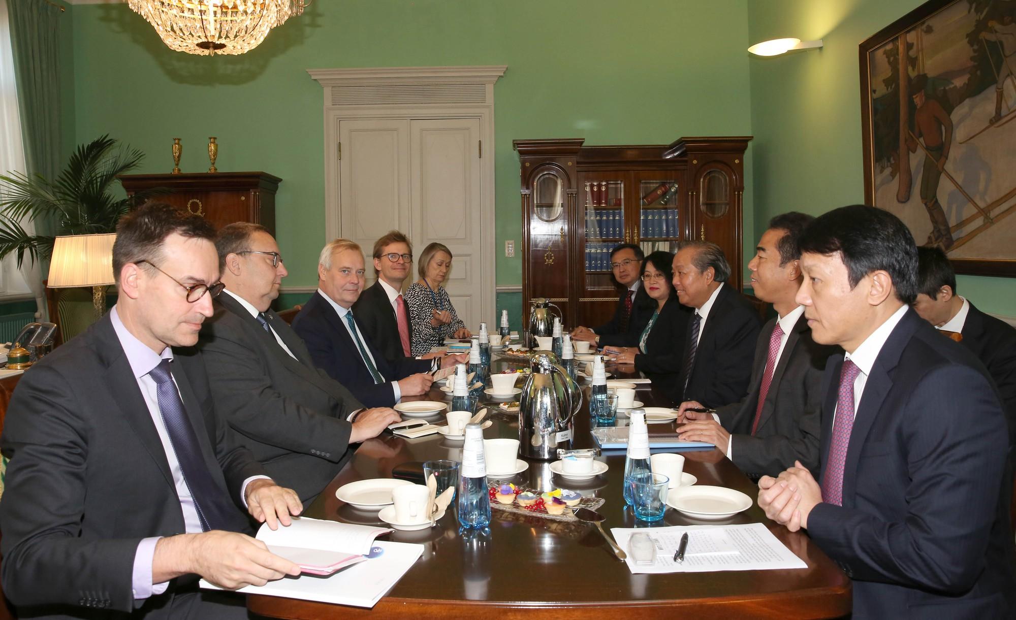 Phó Thủ tướng Trương Hòa Bình hội kiến Thủ tướng Phần Lan Antii Rinne - Ảnh 2.