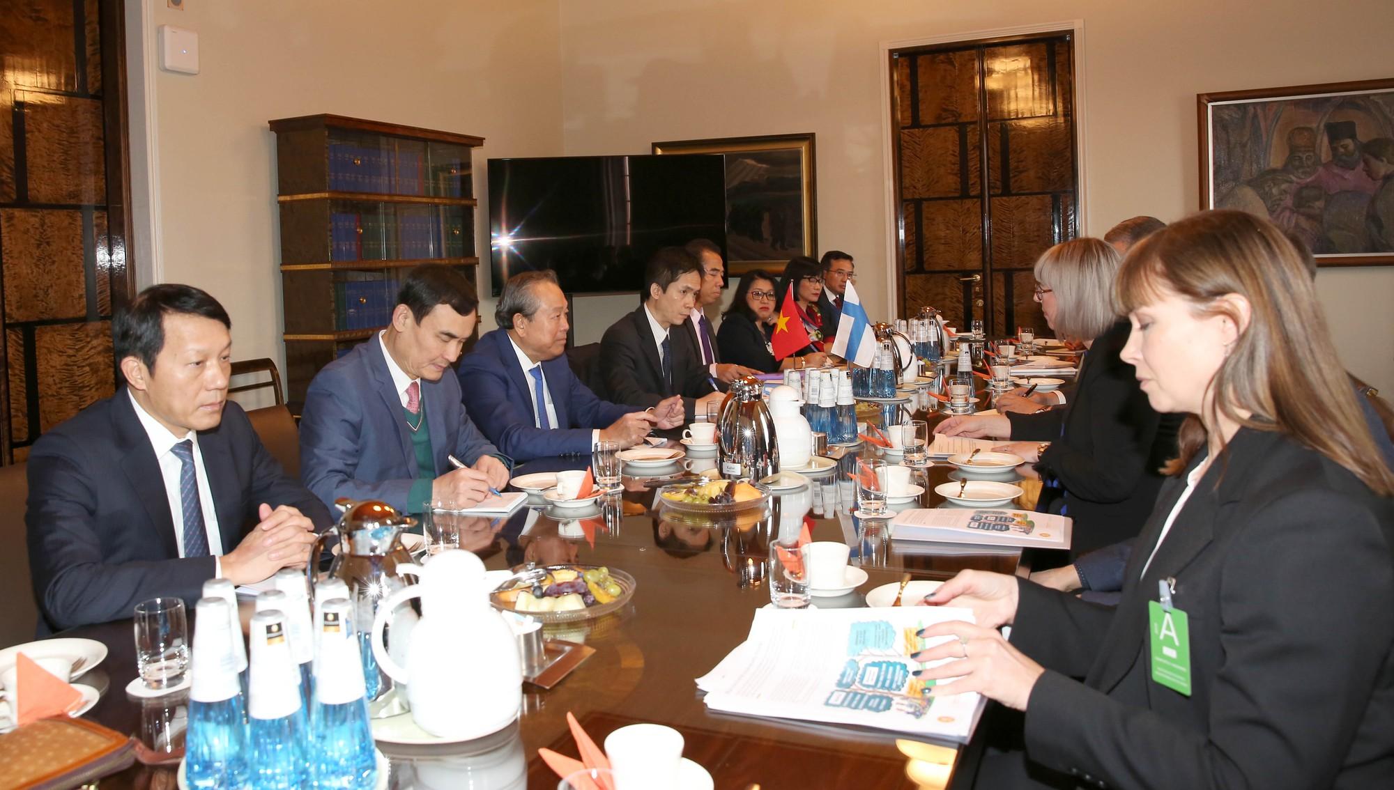 Phó Thủ tướng Trương Hòa Bình hội kiến Thủ tướng Phần Lan Antii Rinne - Ảnh 4.