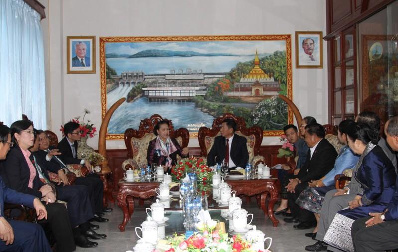 Chủ tịch Quốc hội Nguyễn Thị Kim Ngân thăm tỉnh Vientiane, Lào - Ảnh 3.