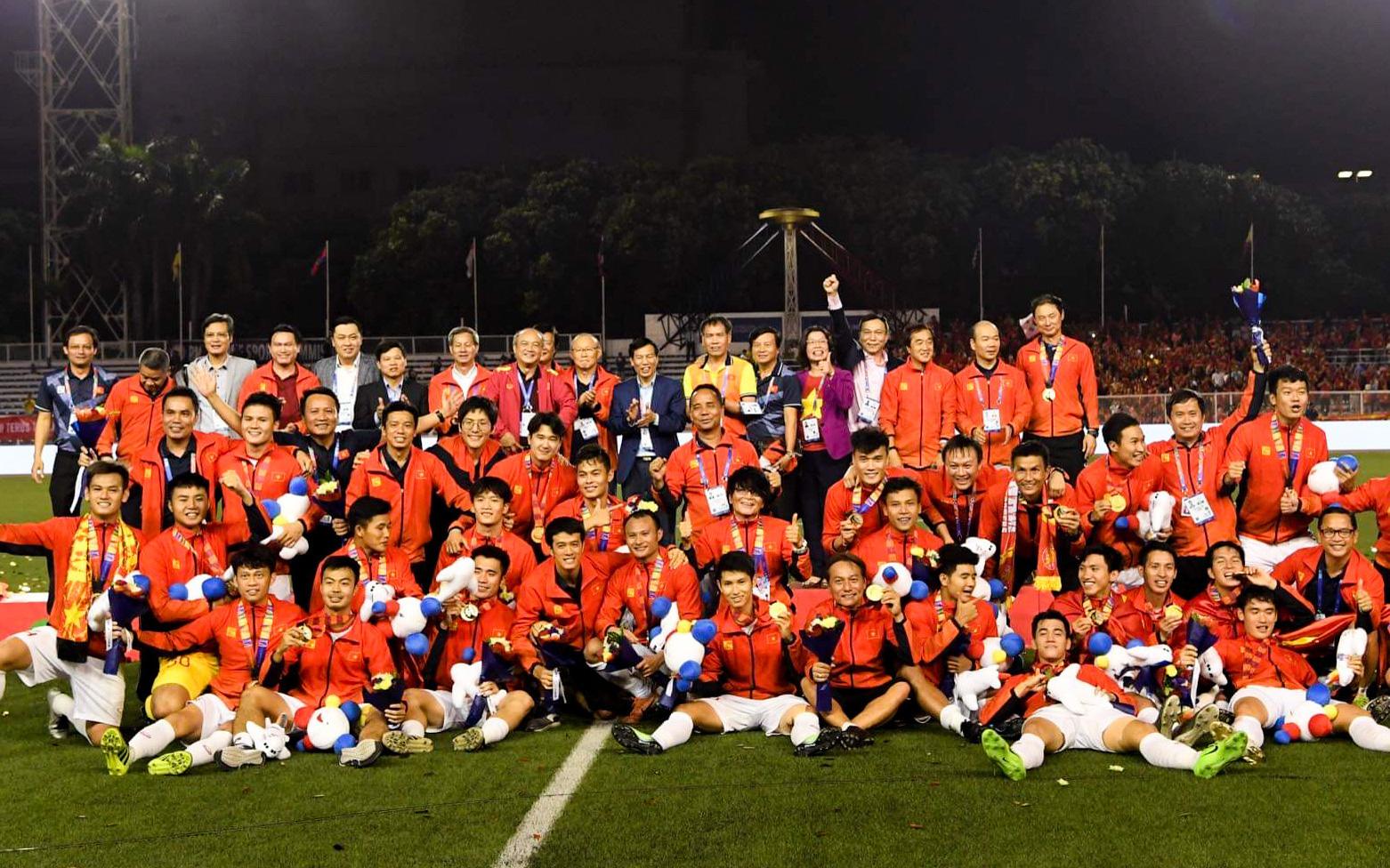 Thứ trưởng Bộ VHTTDL, Chủ tịch Liên đoàn Bóng đá Việt Nam Lê Khánh Hải: Các cầu thủ đã thể hiện được khát vọng, ý chí, tinh thần Việt Nam