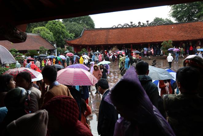 Người Hà Nội đội mưa đến Văn Miếu xin chữ đầu năm - Ảnh 1.