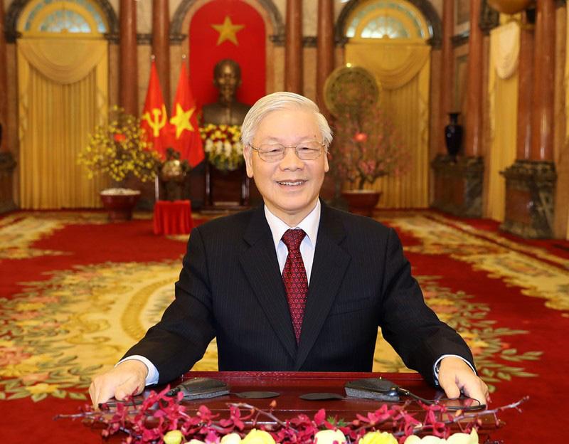 Tổng Bí thư, Chủ tịch nước Nguyễn Phú Trọng: Chúc mỗi gia đình, mỗi người dân Việt Nam một năm mới nhiều sức khỏe, niềm vui, hạnh phúc và thành công - Ảnh 1.