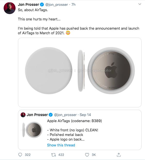 AirTags - Sản phẩm dành cho hội não cá vàng sẽ bị Apple lùi ngày ra mắt - Ảnh 2.