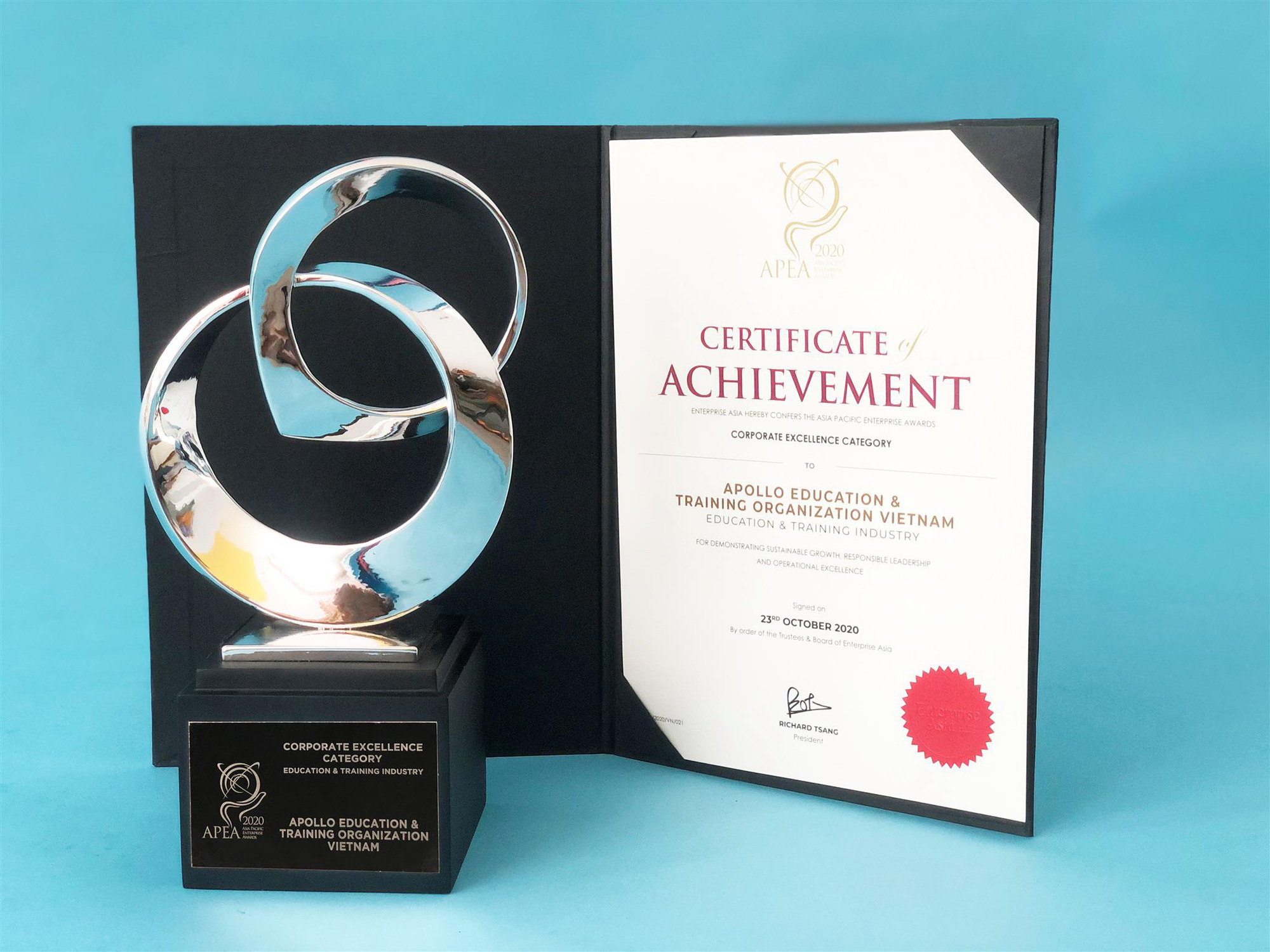 Apollo English thắng giải doanh nghiệp xuất sắc châu Á Thái Bình Dương - APEA 2020 - Ảnh 1.