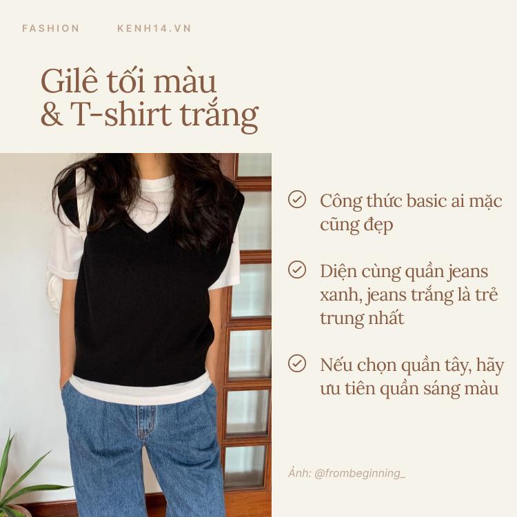 7 công thức bạn nên ghim để diện gilê len chuẩn chỉnh như gái Hàn - Ảnh 1.