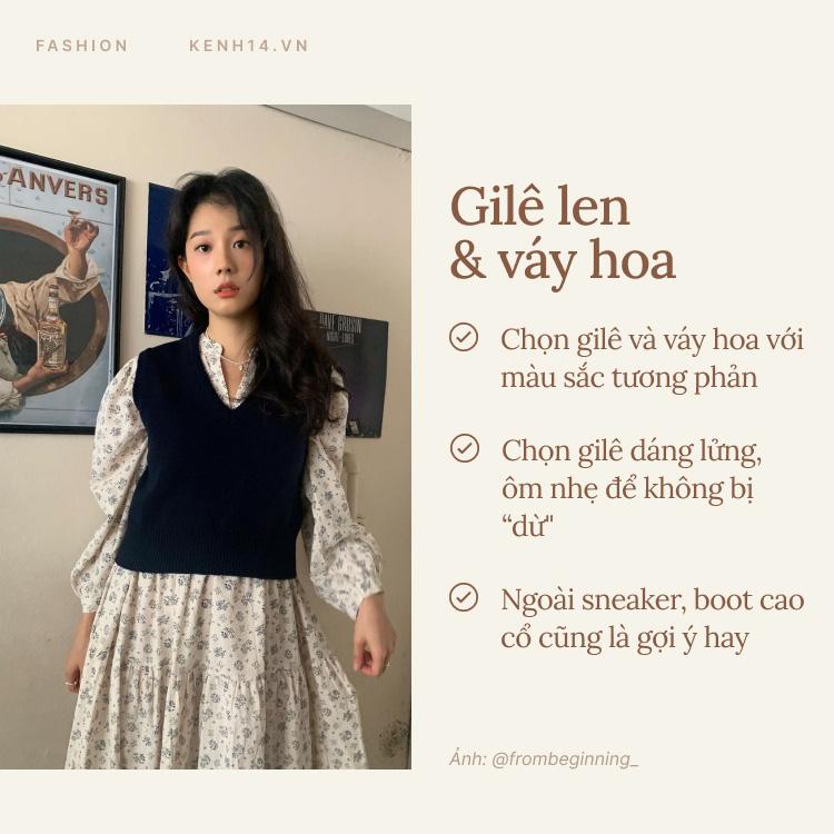 7 công thức bạn nên ghim để diện gilê len chuẩn chỉnh như gái Hàn - Ảnh 2.