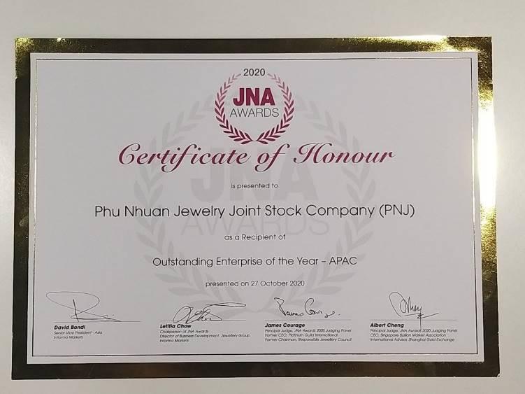 PNJ xuất sắc đăng quang ngôi vị doanh nghiệp số 1 châu Á tại JNA Awards 2020 - Ảnh 1.