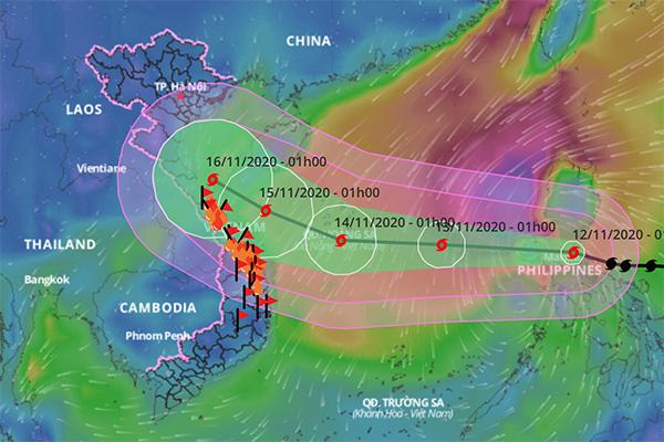 Dự báo đi vào miền Bắc - Trung: Thủ tướng yêu cầu ứng phó với cơn bão mạnh số 13 - Ảnh 1.