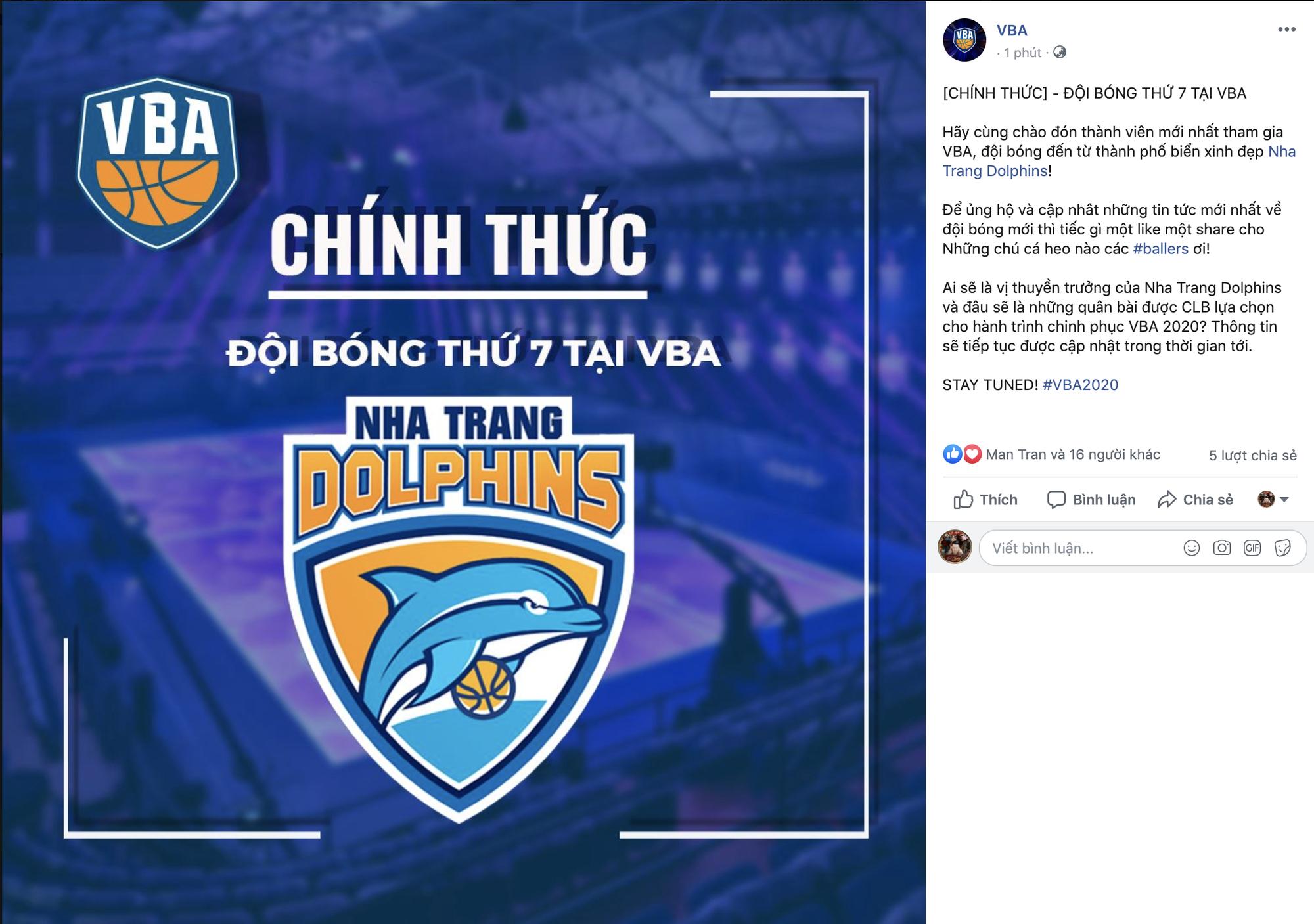 VBA chính thức công bố đội bóng thứ 7: Nha Trang Dolphins là cái tên được chọn - Ảnh 1.