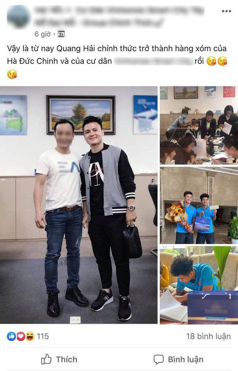 Chưa dứt lùm xùm tình ái, Quang Hải lại để lộ hình ảnh mua nhà bạc tỷ ở tuổi 23 khiến dân mạng xôn xao bàn tán - Ảnh 3.