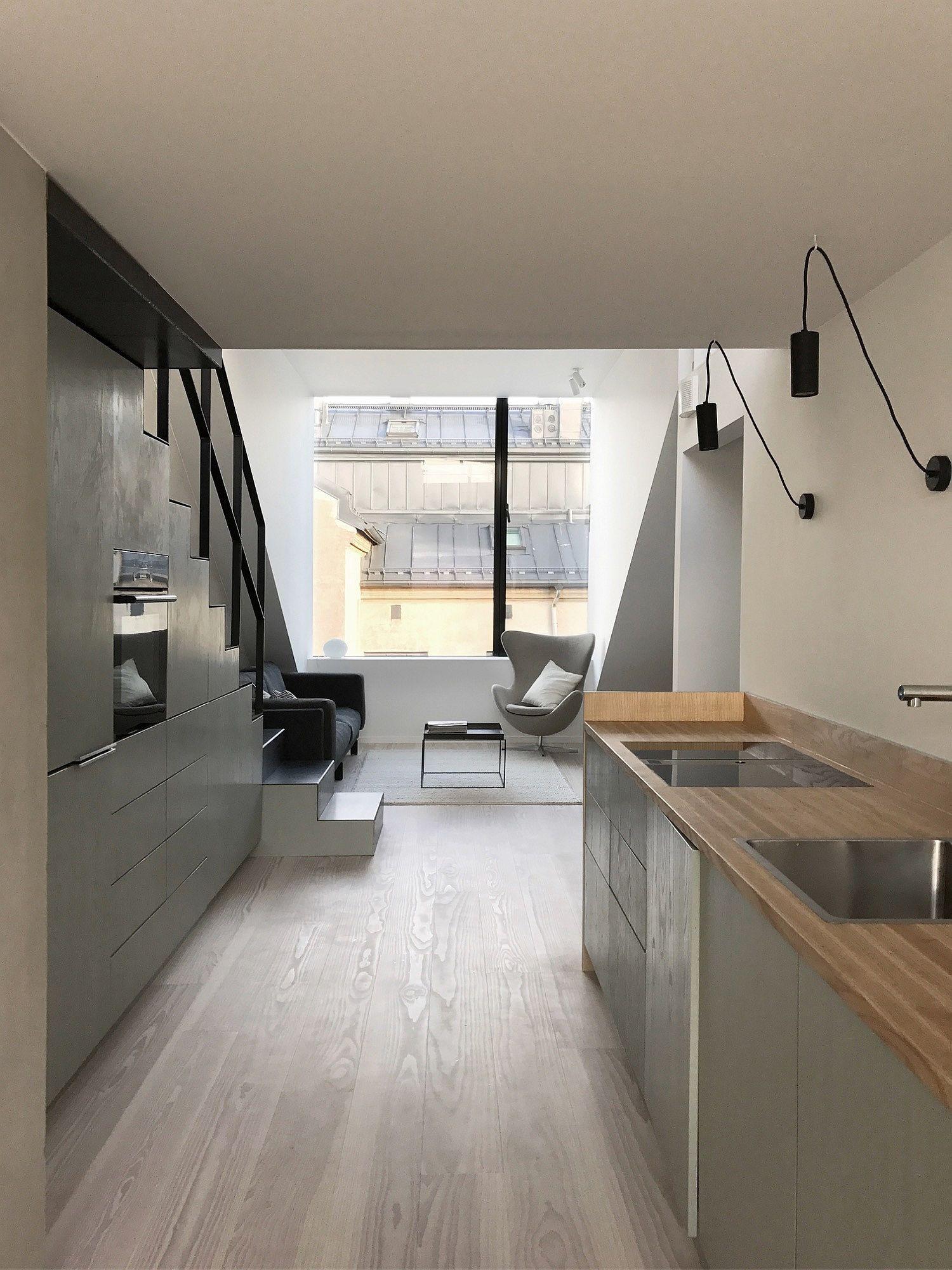 Biến hóa gác xép cũ ở thành phố Oslo thành căn hộ hiện đại, xinh xắn mới thấy bạn đã phải chết mê - Ảnh 5.