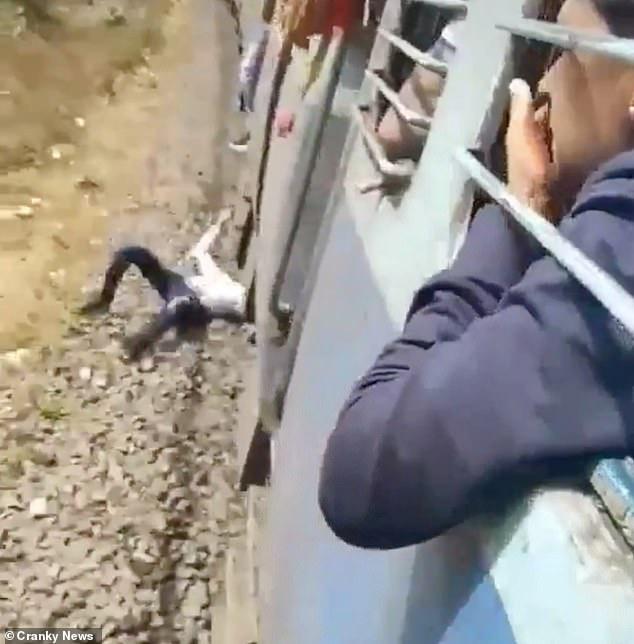 Khoảnh khắc kinh hãi không dành cho người yếu tim: Nam thanh niên rơi xuống đường ray lúc tàu đang di chuyển, nhưng kết cục khiến hành khách vỗ tay ầm ầm - Ảnh 3.
