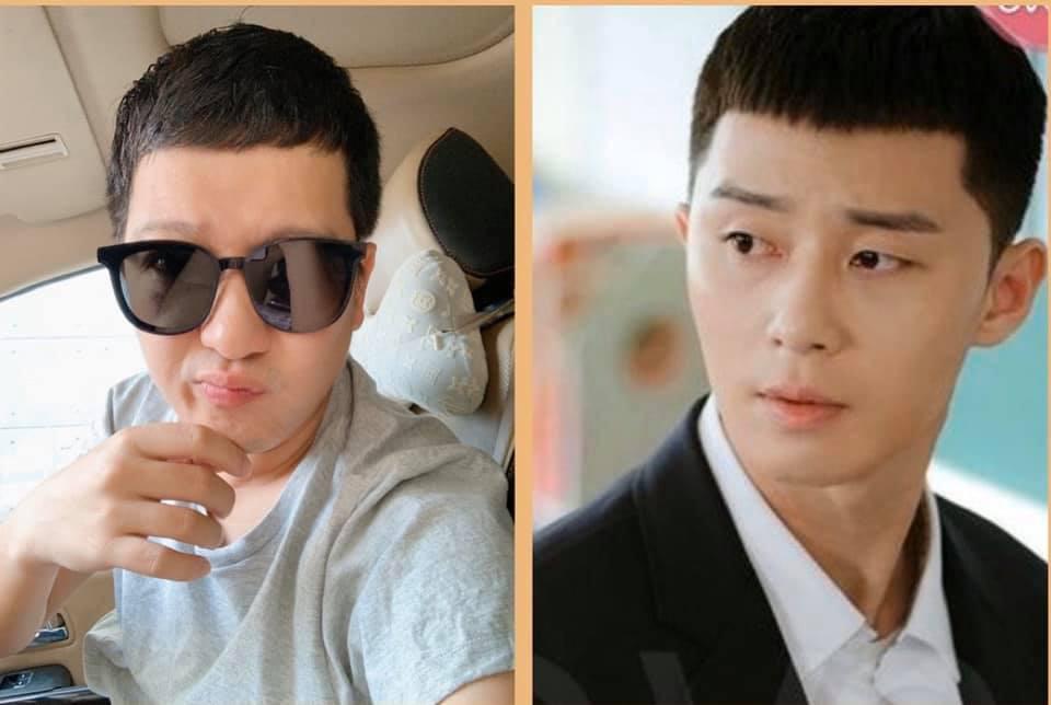 """Nịnh vợ như Trường Giang: Hết """"bắt chước"""" Hyun Bin rồi lại đi cắt tóc giống Park Seo Joon chỉ để chiều lòng Nhã Phương - Ảnh 3."""